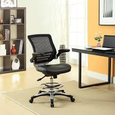 Chair For Drafting Table Edge Drafting Chair In Black Lexmod