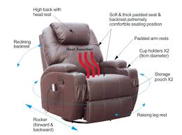 Cinema Recliner Sofa Foxhunter Bonded Leather Sofa Recliner Chair Swivel