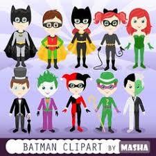characters batman kids version clip art coloring