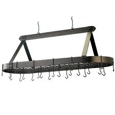 lighted hanging pot racks kitchen amazon com old dutch oval hanging pot rack with grid u0026 24 hooks