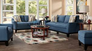 cindy crawford living room sets cindy crawford newport cove indigo 7pc classic living room living