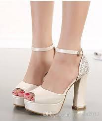 wedding shoes luxury 2015 luxury ivory white glitter wedding shoes sandals