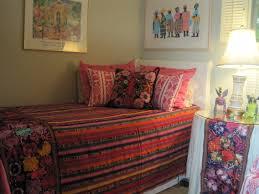 guatemalan pink mayan bedspread pink white ikat blue floral