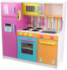 pretend kitchen furniture kidkraft deluxe big bright kitchen toys