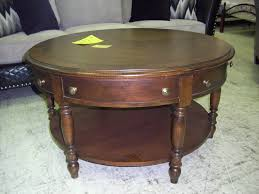 wood end tables with drawers rustic round wood coffee table with storage drawers and ample shelf