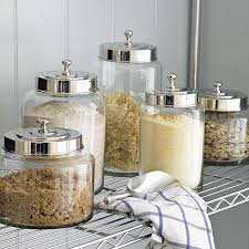 stainless steel kitchen canisters glass canisters williams sonoma