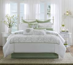 bedroom ideas white and soft green bedding ideas with beach