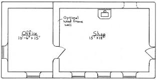 shop plans and designs shop with office plan