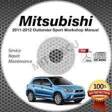 2011 2012 mitsubishi outlander sport rvr 2 0l service manual cd