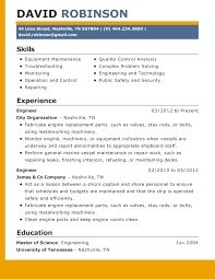 Formats For Resumes Best Resume Format For Engineers 2017 Resume 2017