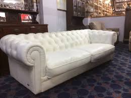 White Leather Chesterfield Sofa by White Leather Low Back Chesterfield Lounge Simply Secondhand