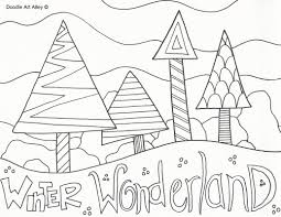 winter coloring pages throughout printable omeletta me