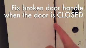open a door that is stuck closed because the knob doesn u0027t work