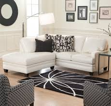 modern chaise sofa with black wooden furniture white leather low