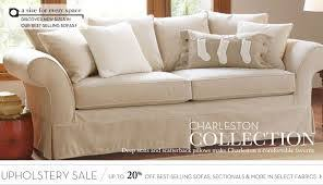 Pottery Barn Slipcovered Sofa by Pottery Barn Charleston Slipcovers By Needle Arts Guild