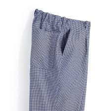 pantalon cuisine homme pantalon cuisine homme pied de poule bleu blanc elastique dos