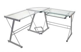 office depot table top easel realspace mezza l shaped glass computer desk cherrychrome by