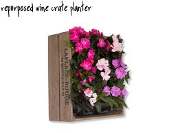 Wall Mounted Planter Living Wall Planters From Re Purposed Wine Crates