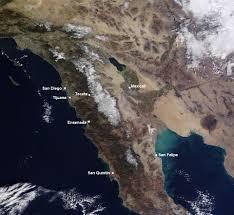 Baja Mexico Map by Baja Satellite Snow Map Expat In Baja Mexico
