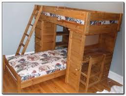 Bunk Bed Wooden Wood Loft Bed With Desk Desk