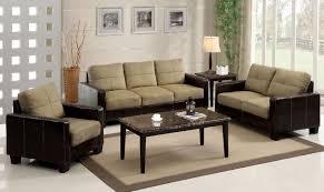 Microfiber Living Room Set Laverne Contemporary Style Tan Elephant Skin Microfiber Sofa