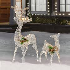 Giraffe Christmas Yard Decoration by Christmas Lighted Reindeer Outdoor Amazon Com