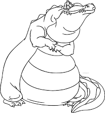 disney the princess and the frog louis alligator coloring page