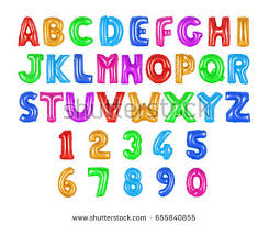 alphabet balloons colored alphabet balloons on isolated background stock photo
