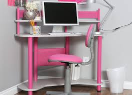 enchanting sample of corner computer desk with bookshelves
