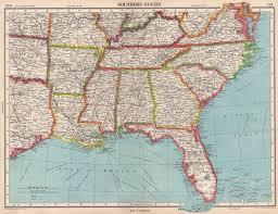 map of usa showing southern states usa southern states florida la ms al nc sc tn ar ky