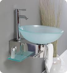 wall mount glass sink fresca fvn1012 cristallino 18 modern glass bathroom vanity with