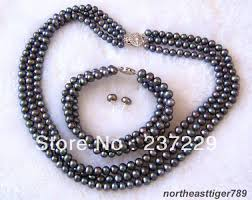 black pearl bracelet jewelry images Wholesale price free shipping 3 rows real black pearl 18kwgp jpg