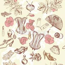 vintage accessories fashion vintage pattern with vintage accessories vector