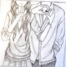 hd easy pencil sketch of couple cute easy love sketches google