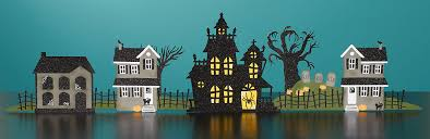 paper halloween village make it from your heart