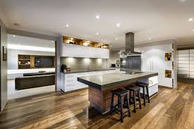 kitchen cabinets breakfast bar kitchen island wood floor house in