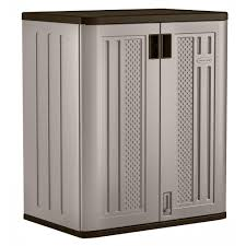 Storage Closet Suncast 30 In X 36 In 2 Shelf Resin Base Storage Cabinet In