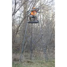 guide gear 15 woodsman rotating tripod deer stand 177511 tower