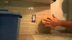 how to grout a backsplash diy tutorial youtube