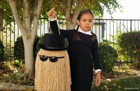 Halloween Costume Wednesday Addams Cousin Diy Trick Treat Pail Diy Inspired
