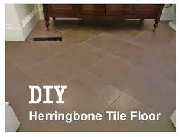 Laying Tile Floor In Bathroom - d i y d e s i g n how to install a herringbone tile floor
