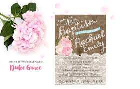 Invitation Cards To Print Baptism Party Invitations Christening Party Invitation Cards