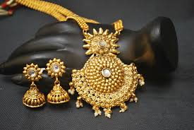 gold long necklace images Artificial jewellery gorgeous long haram necklace set jpg