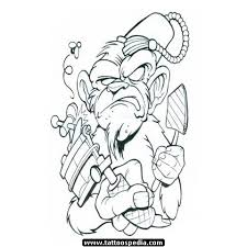 gangsta monkey tattoo stencil photo 3 photo pictures and