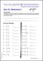 homework sheets maths centre