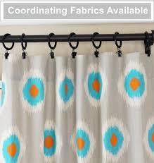 orange curtain panels aqua window curtains blue grey