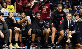 basketball bench celebrations the best part of florida state s sweet 16 win was its bench