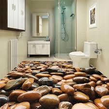 aliexpress com buy custom floor wallpaper 3d cobblestone pvc