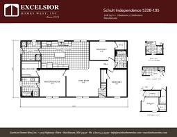 schult floor plans schult independence 5228 105 excelsior homes west inc