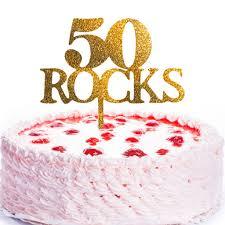 jennygems birthday cake topper 50 rocks 50th birthday decor